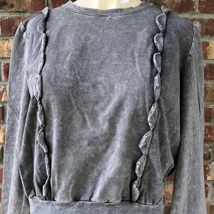 Anthropologie Eri + Ali Gray Weckerlie Sweater Lg